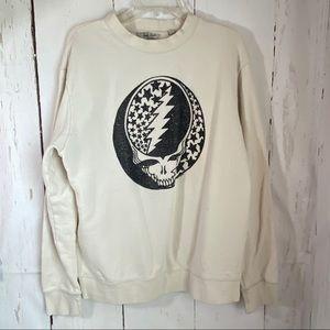 Junk food sweatshirt S-M  white back
